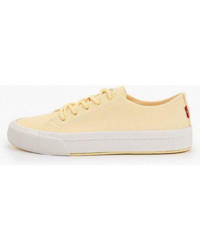 Хлопковые желтые низкие кеды Levi's®