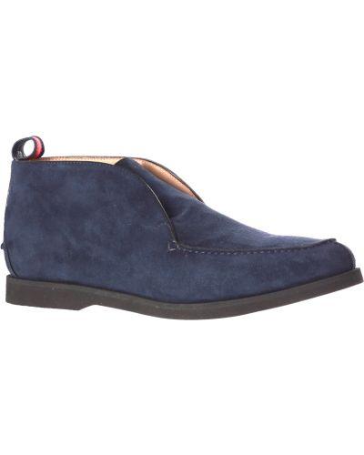 Кожаные ботинки - синие Kiton