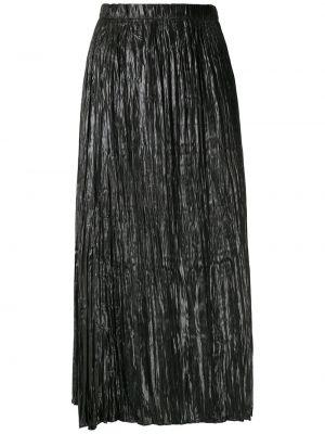 Прямая с завышенной талией юбка миди в рубчик с поясом Uma   Raquel Davidowicz