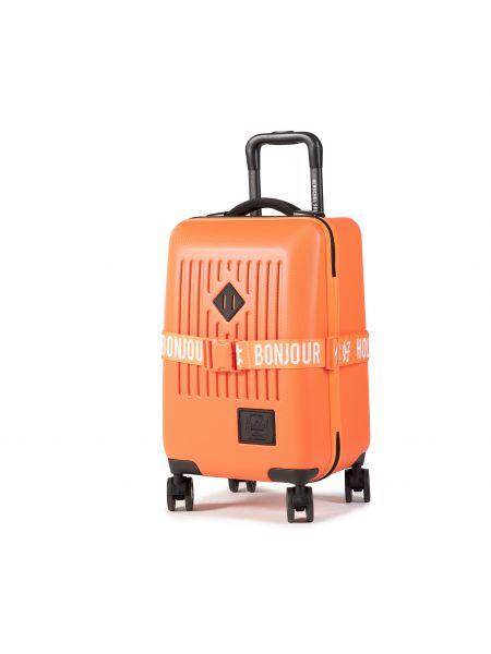 Pomarańczowa klasyczna walizka Herschel