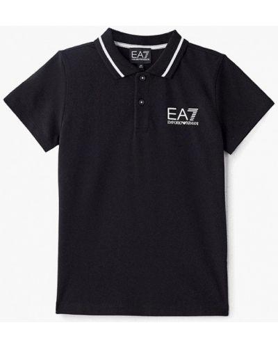 Поло черный Ea7