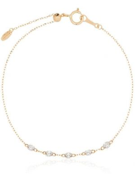 Żółta złota bransoletka ze złota z diamentem Persée
