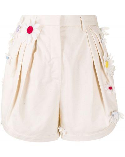 Хлопковые белые с завышенной талией шорты Rosie Assoulin