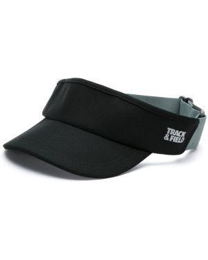 Козырек черный с логотипом Track & Field