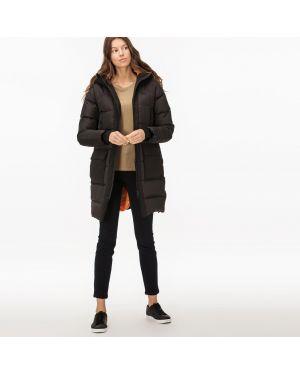 Куртка с капюшоном утепленная черная Lacoste