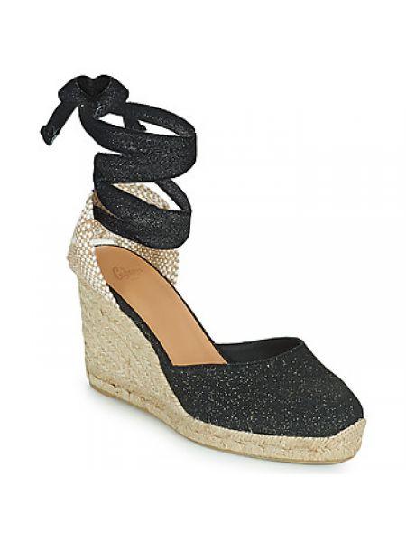 Czarne sandały Castaner