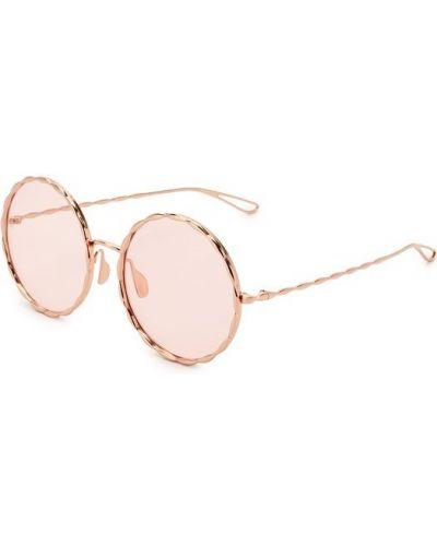 Солнцезащитные очки золотого цвета Elie Saab