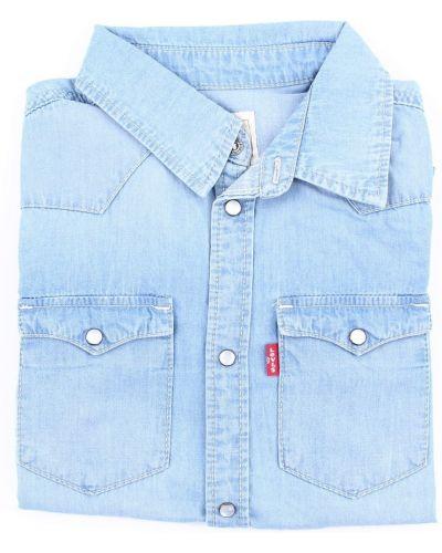 Niebieska koszula jeansowa z długimi rękawami zapinane na guziki Levi's