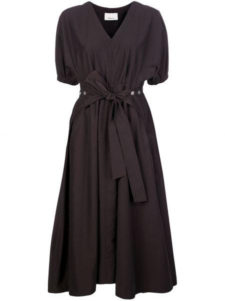 Платье миди с V-образным вырезом с поясом 3.1 Phillip Lim