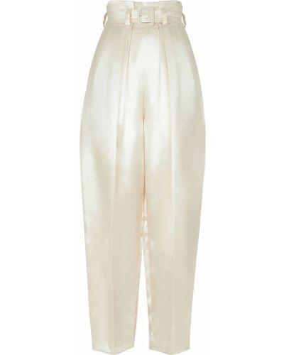 Белые брюки с завышенной талией Fendi