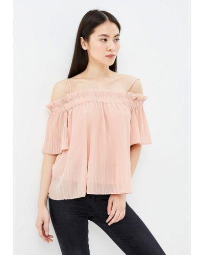 Блузка с открытыми плечами весенний бежевый Trucco