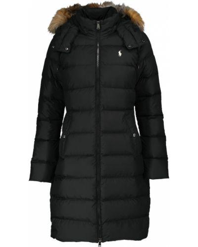 Черное стеганое пальто Polo Ralph Lauren