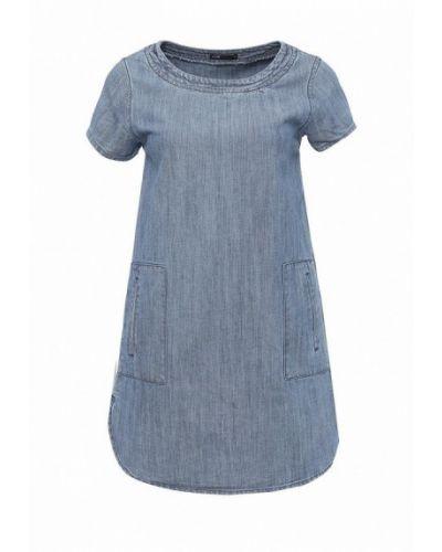 Джинсовое платье осеннее синее Oodji