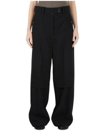 Spodnie z wysokim stanem - czarne Lemaire