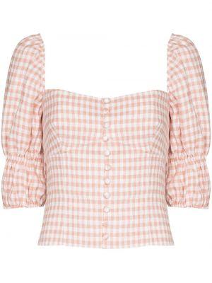 Блузка с вырезом - розовая Reformation