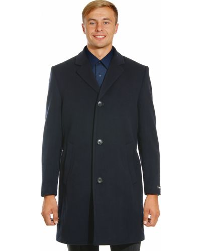 Синее шерстяное пальто Lagerfeld