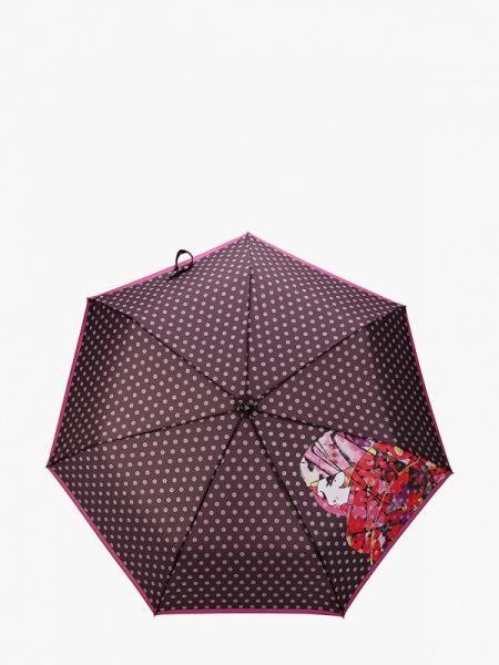 Фиолетовый складной зонт Fabretti