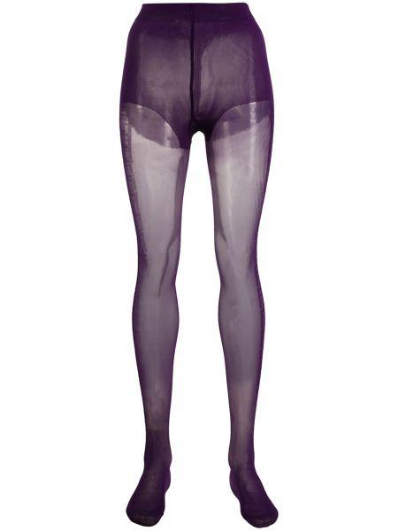 Rajstopy bawełniane - fioletowe Fendi