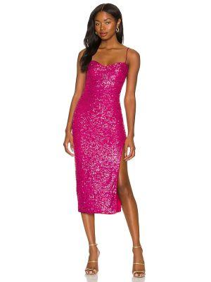 Sukienka midi elegancka - różowa Majorelle