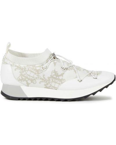 Buty sportowe skorzane - białe Emilio Pucci