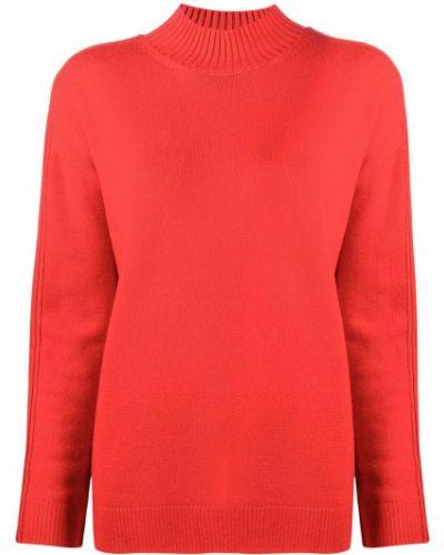 Шерстяной красный вязаный свитер с круглым вырезом Monse