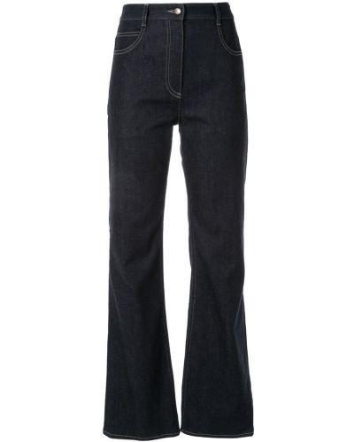 Расклешенные джинсы с поясом на пуговицах Nina Ricci