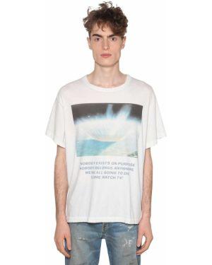 Biały t-shirt bawełniany Lost Daze Ca