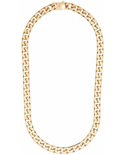 Biały złoty naszyjnik Off-white