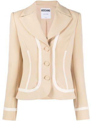 Однобортный удлиненный пиджак на пуговицах с декоративной отделкой Moschino