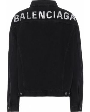 Черная джинсовая куртка Balenciaga
