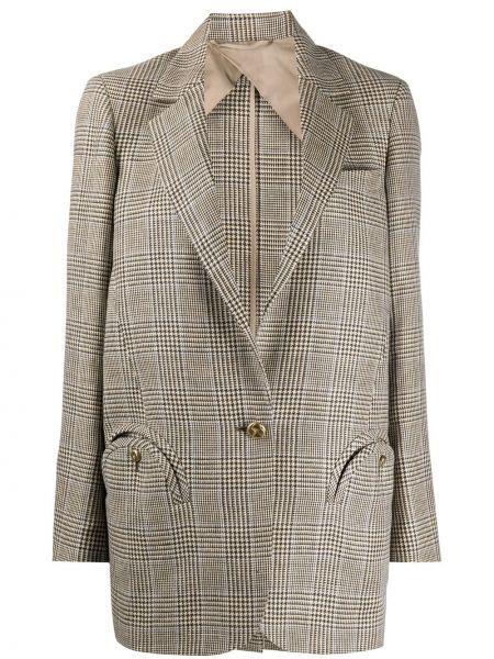 Коричневая куртка с манжетами на пуговицах с карманами Blazé Milano