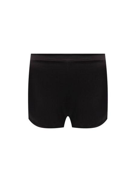 Ватные шелковые черные шорты с поясом Cotton Club