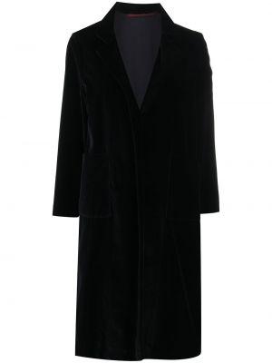 Бархатное синее пальто с карманами Daniela Gregis