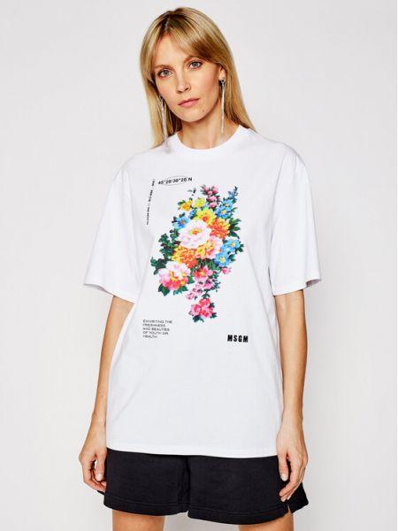 Biała t-shirt Msgm