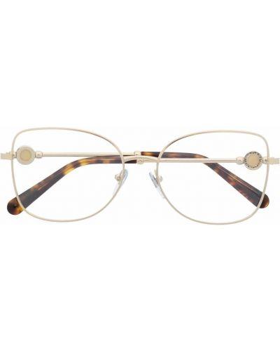 Коричневые очки прозрачные Bvlgari