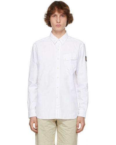Biała koszula bawełniana z długimi rękawami Belstaff
