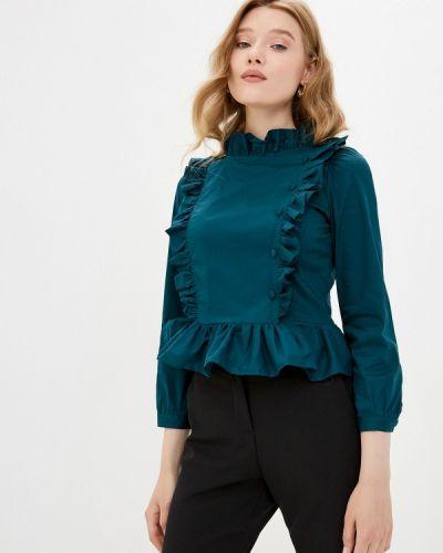 Зеленая блузка с длинным рукавом с длинными рукавами Imperial
