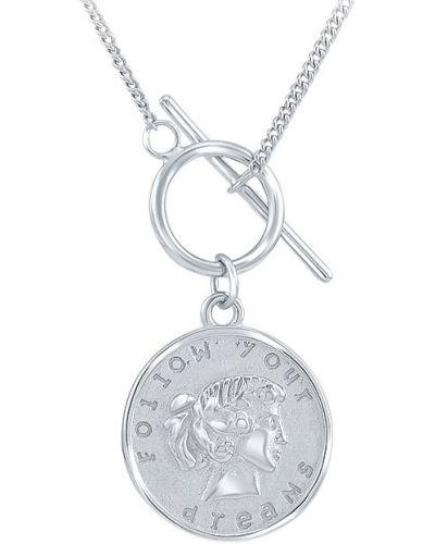 Серебряное ожерелье с подвесками с надписью Silver Wings