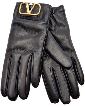 Кожаные перчатки итальянский кашемировые Valentino Garavani