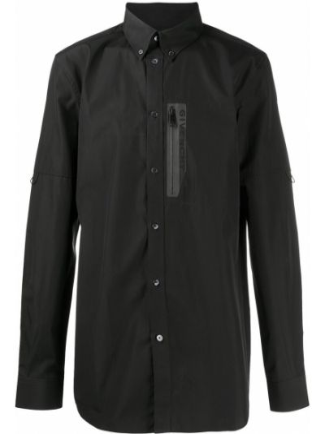 Bawełna czarny koszula z mankietami z kieszeniami Givenchy