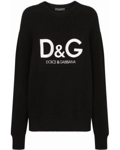 Черная трикотажная джемпер Dolce & Gabbana