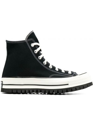 Czarny top koronkowy sznurowany Converse