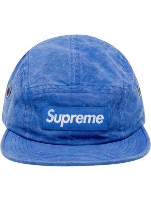Niebieska czapka szkolna Supreme