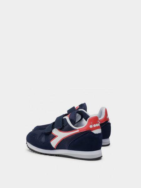 Кроссовки на липучках - синие Diadora