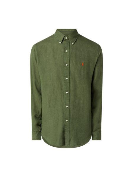 Puchaty zielony koszula z mankietami z długimi rękawami Polo Ralph Lauren