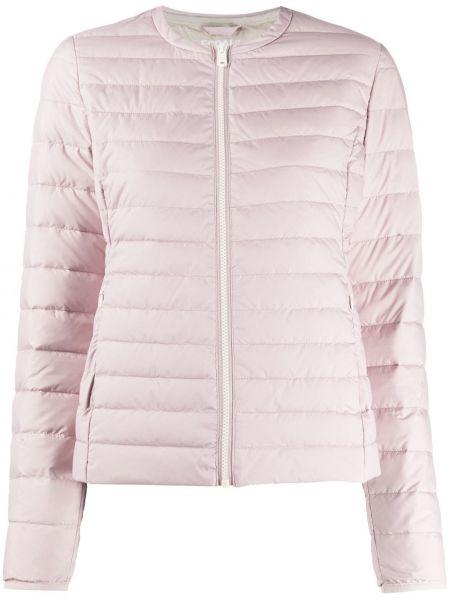 Прямая розовая куртка на молнии круглая Ecoalf