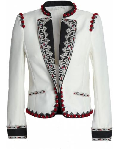 Хлопковая ватная белая куртка Talitha