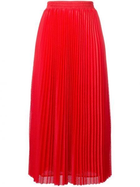Ażurowa spódnica maxi z wysokim stanem z siateczką Red Valentino
