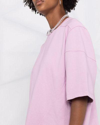 Розовая прямая футболка Rick Owens Drkshdw
