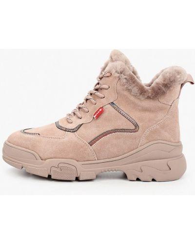 Розовые высокие кроссовки Pierre Cardin